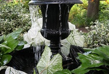 Gardening-Water Feature, pools and ponds / Love water features and pondering the idea of a pond for the back porch at The Coach's Cottage in Phoenix, AZ