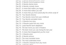 30 Day Movies Challenge