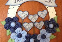 guirlanda de flores com coração