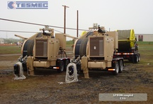 STRINGING EQUIPMENT / Tesmec offers a complete range of products for the installation of any power lines conductors including AAAC, ACAR, ACSR, ACSS, ACCC AND fiber optic cables as OPGW.