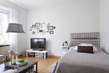 Pienen asunnon sisustus, small apartment's interior / Ideoita pienen asunnon sisustukseen. Ideas and tips  how to decorate a small apartment or room.