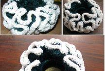 élastiques cheveux crochet