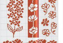 Motifs / Des motifs et des grilles pour faire du tricot ou de la broderie...