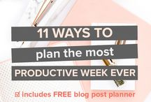 Productivity / Get some productivity into your life! Hints and tips to maximise time management and get things done!