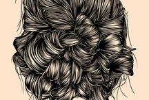 Art/Illustration - The Hair / Illustrated examples of hair. / by Daniel Reedy