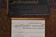 Invitation Paper Gold / White, Cream, Ivory, Black, and Gold Wedding Invitations and Wedding Program Fans.  / by Jynx Di Iettura