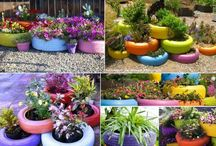 sweet gardening with recycled stuff