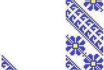 broderie XS motive populare / broderii de tip banda sau bordura, cusatura tip punct in cruce, pentru masini de brodat computerizate
