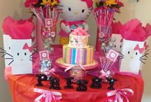 Hello Kitty Spa Party for Girls / Spa party for girls! Birthday idea