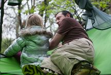 Tree Tents aka Portable Treehouses / Enjoy the wilderness in luxury, style and comfortability by hangin' high above the ground with Tentsile hammock tree tents.