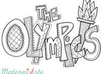 Desenhos olimpíadas 2016 / Desenhos para impressão tema olímpico P/B. É só imprimir e colorir