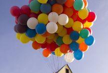 Literacy activities / House & balloons