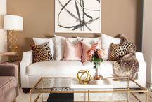 Luxury glam living room/kitchen