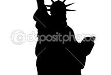 silhouette/stencil
