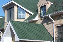 Крыши покрытые мягкой кровлей / Крыши домов и коттеджей покрытые мягкой битумной черепицей Shinglas (Шинглас) серий Джаз, Ультра, Классик, Финская черепица
