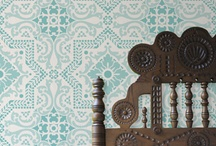Curtain Stencil ideas / by Ruth Beeby
