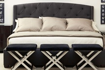 Bed Down Furniture / Sofas, chairs, fabric beds, wood beds, bedroom furniture, linens, dining tables, and home accessories