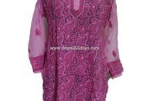 Georgette Long Kurtis / Georgette Kurtis, Chiffon Kurtis, Chiffon Shirts for  Girls and women. Check out www.dress365days.com for Chikankari Apparels