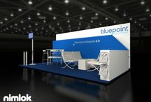 Small Displays and Inline Exhibits / Even small spaces can create big impact.  These are great examples of how inline exhibits are pushing the limits of good design and memorable experience. Tradeshow displays; Exhibit design; Inline exhibits