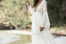 Boho style bridal dresses