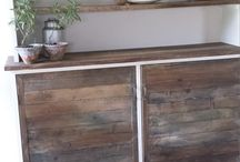 STUNNING ROOMDIVIDER / We design ROOMDIVIDERS BOARDS for smaller homes or big Loft Industrial Rooms. All recycle woods You can order the Roomdivider in any messures  www.ginger-cinnamon.nl