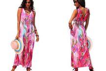 Dlouhé letní šaty se žabičkovým pasem růžové