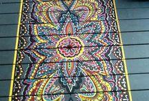 Floor painting designs
