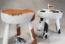 Other Products / Cow Hide covered Milking stools