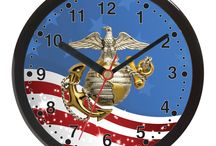 Clocks for the Military / Clocks for the Army, Navy, Air Force and Marines.  10 and 12 inch wall clocks.  See them all at http://www.priorservice.com/miwa.html