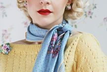 vintage knitting / style fashion vintage retro outfit look