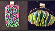 Polymer clay - Pendants, necklaces. etc. / Inspirational photos of work by various artists - for tutorials, see my other board -