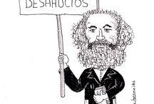 CARICASOFÍA / Tablero visual con viñetas, caricaturas, visual thinking sobre Filosofía.