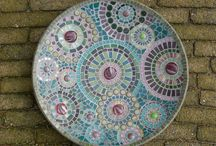Bamboe bord mozaiek