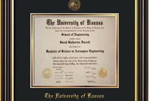 University of Kansas Diploma Frames & Graduation Gifts! / Official KU Diploma frames. Exquisitely crafted to exacting specifications for the KU diploma. Custom framed using hardwood mouldings and all archival materials, including UV glass to prevent fading from sunlight AND indoor incandescent lighting! Each frame exceeds Library of Congress standards for document preservation and includes a 100% lifetime guarantee, ensuring that a hard-earned achievement will be honored and protected for generations. Makes a thoughtful and unique graduation gift!