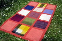 Blanket - ORANGE II / SIZE: 133X226cm MATERIAL - wool, cotton MADE - handmade