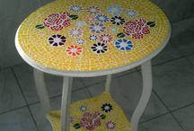 mesas de mosaicos