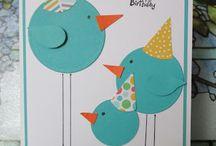 Itse tehdyt syntymäpäiväkortit ja rasiat