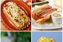 Hamburguesas y hotdogs
