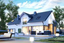 HomeKONCEPT 21 | Projekt domu / HomeKONCEPT-21 to przykład klasycznego domu w nowoczesnym stylu. W jego niewielką powierzchnię użytkową wpisano niezwykle funkcjonalne wnętrze. Kuchnia ze spiżarnią w zależności od preferencji może być pomieszczeniem zamkniętym lub otwierać się na jadalnię i salon z kominkiem. Reprezentacyjny taras zachęca do spędzania czasu na świeżym powietrzu.