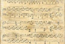 nuottipapereita / musiikki