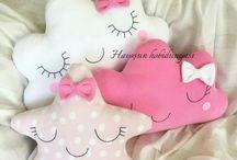 bebek yastıkları dekoratif