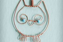 Cute owl pendant / Copper owl with turquoise eyes