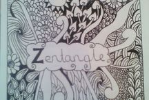 My own zentangles x / My new hobby zentangle art, never picked up a pencil till a month ago, all freehand