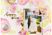Scrapbook Layouts / Scrapbook layouts made by Pink and Paper Design Team.