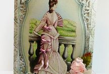 Cards - Gazing Lady stamp