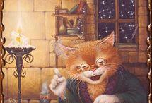 МИР КОШЕК. / О любви к кошкам можно говорить очень много и долго думаю, что каждый кто любит этих очаровательных и в чём - то даже , где - то мистических животных поймут меня!