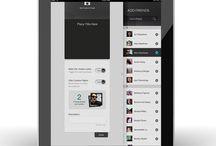 Tablet UI | Friends