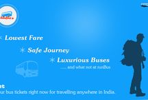Runbus 2015 / RunBus is comprehensive and trustworthy online bus ticket booking platform for booking bus tickets to travel anywhere in India contentedly and securely by bus and seat of your choice. It was established in 2012 with a notion to serve as one more option for booking online bus tickets and bring traveler of passenger and bus operators closer. Passenger can easily get bus tickets to travel anywhere in India in AC Sleeper, AC Semi Sleeper, AC Seater, Non AC Sleeper, Non AC Semi Sleeper, Volvo. / by runBus