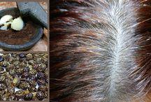 Gray hair treatment - coconut oil & papaya seeds