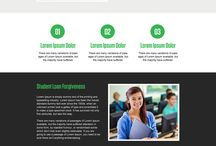 debt relief landing page design